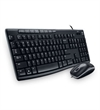 Logitech MK200 Wired Keyboard and Mouse Combo - Black
